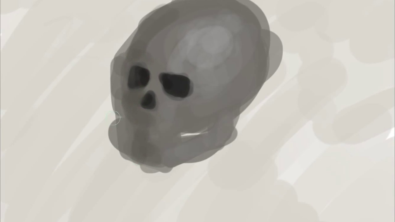 Drawing With No Lines : Skull shading no lines youtube