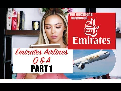 EMIRATES AIRLINE CABIN CREW Q&A PART 1
