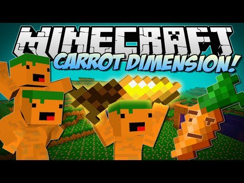 Minecraft | CARROT DIMENSION! (Carrot Bazooka, Carrot Diamond Drill & More!) | ...