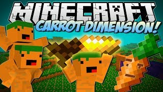 Minecraft | CARROT DIMENSION! (Carrot Bazooka, Carrot Diamond Drill & More!) | Mod Showcase