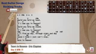 Tears In Heaven - Eric Clapton Bass Backing Track with scale, chords and lyrics
