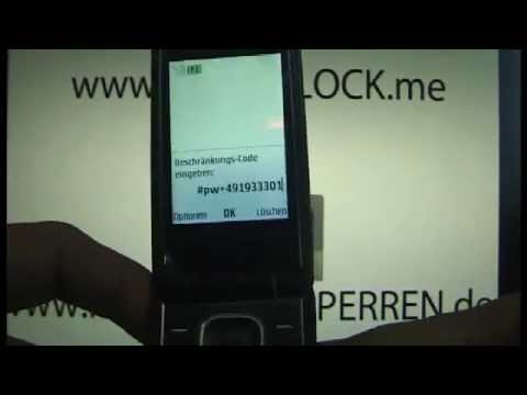 HOW TO UNLOCK NOKIA 3710 www.Unlocking-Nokia.com BB5 SL3 HANDY ENTSPERREN