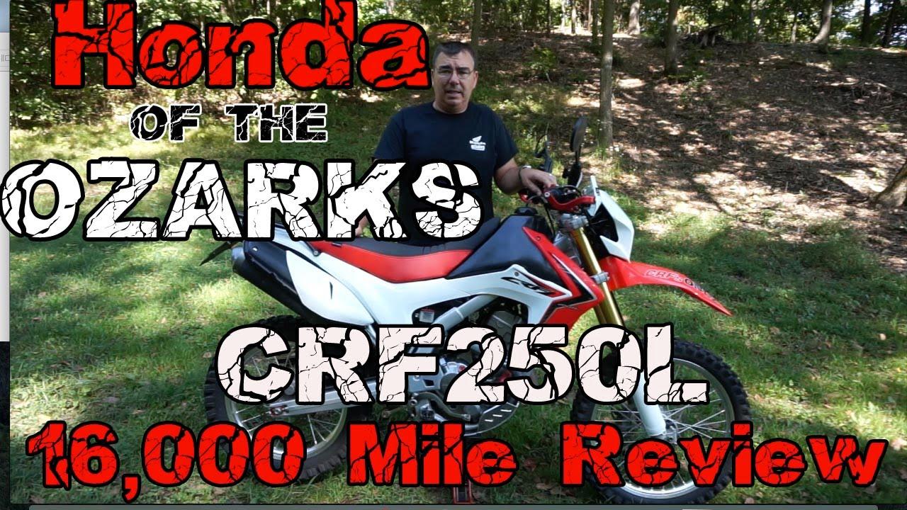 Honda Of The Ozarks >> Honda Of The Ozarks Crf250l 16 000 Mile Review