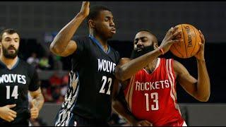 Andrew Wiggins Full Highlights 11.12.2014 vs Rockets - 15 Pts (Block James Harden's Layup)