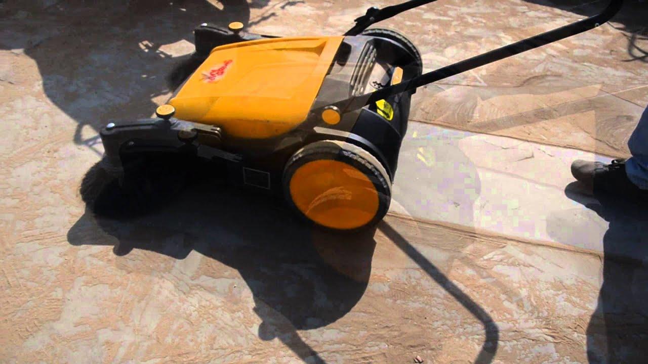 Sweep Man Manual Sweeper Machine Youtube