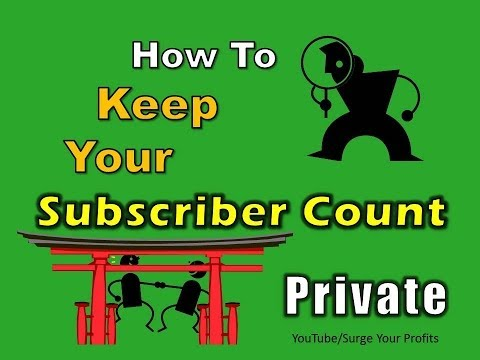 How to KEEP SUBSCRIBERS PRIVATE (Don't Display SUBSCRIBER COUNT) By SYPTV