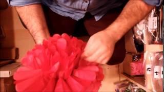 Pon pon süs nasıl açılır? - Kağıt ponpon süs fiyatı - Doğum günü süsleri