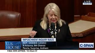 What Debbie Lesko and Andy Biggs said During the Impeachment Inquiry Debate