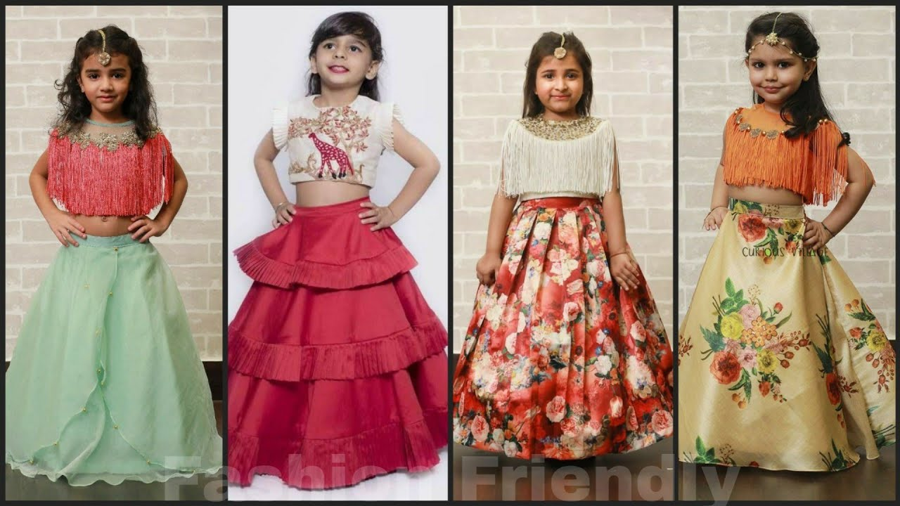Kids Lehenga Designs Kids Party Wear Dresses 2019 Crop Top Lehenga For Kids Fashion Friendly Youtube