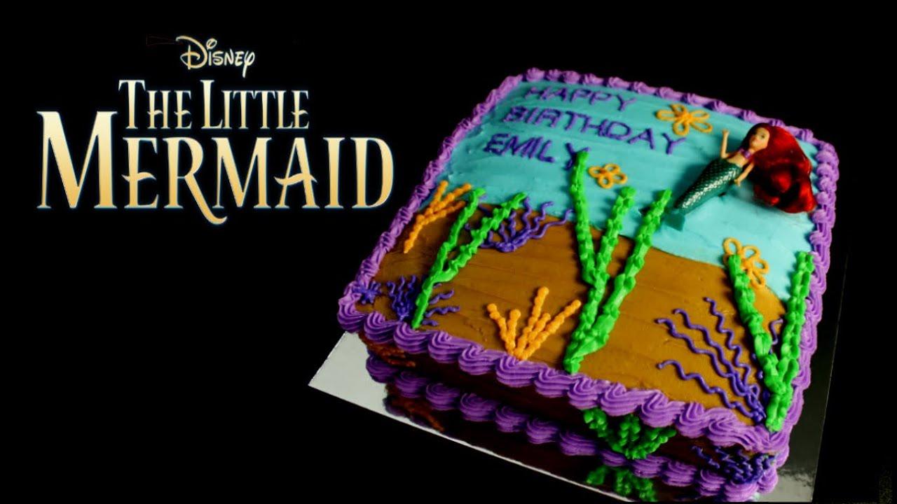 Disney Movie The Little Mermaid Birthday Cake Buttercream Frosting