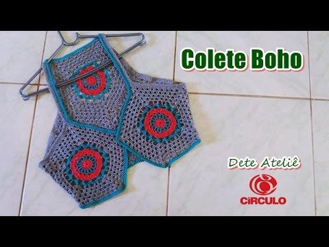 Colete Boho em Crochê by Claudete Azevedo thumbnail