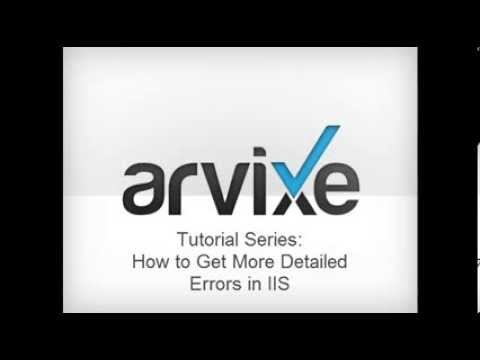 ASP NET Hosting Tutorial - How to Get More Detailed Errors in IIS