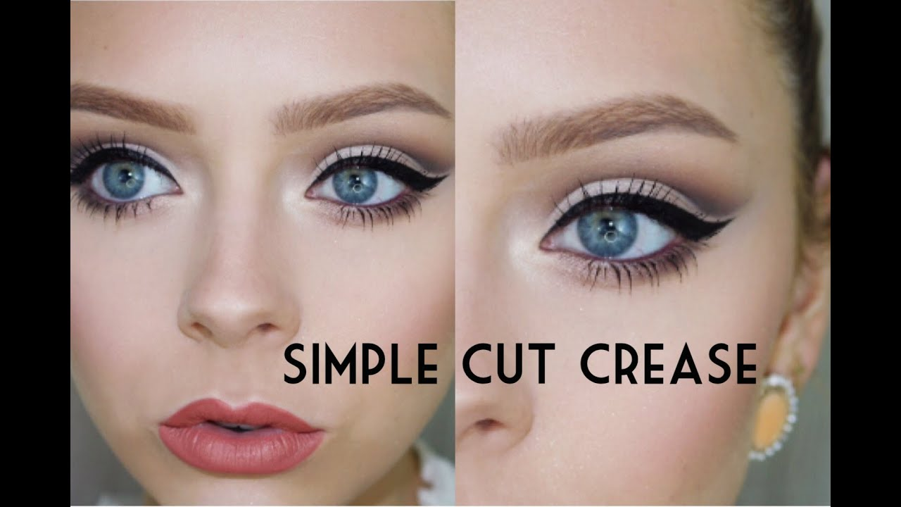 Simple Cut Crease Cosmobyhaley Youtube