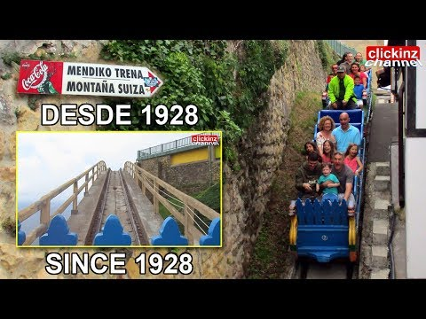Old small Roller Coaster Swiss Mountain (Monte Igueldo Theme Park San Sebastian Spain) 2017