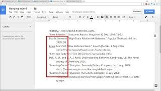 Google Docs - Retrait Négatif De Première Ligne