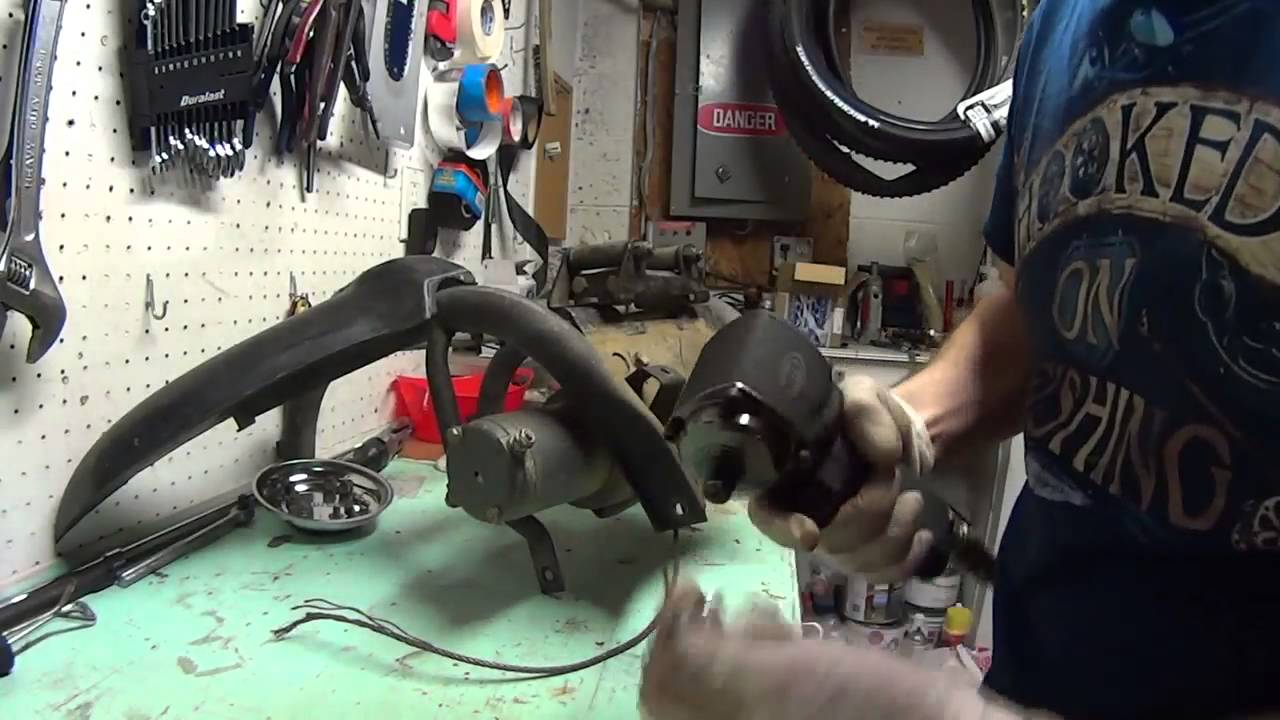 warn 2500lbs winch repair attempt on kodiak 450 [ 1280 x 720 Pixel ]
