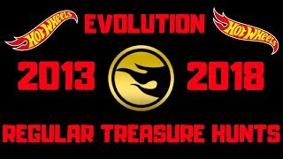 Evolution of Hot Wheels Treasure Hunts! From 2013 Until Now! (Circle Flame Logo)