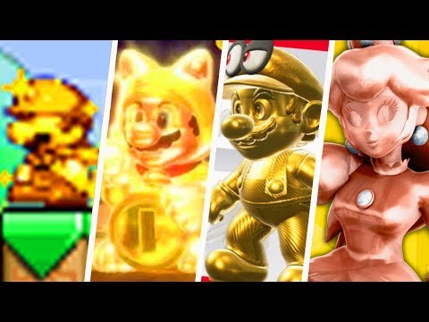 Evolution of Gold Mario Characters (1996 - 2019)