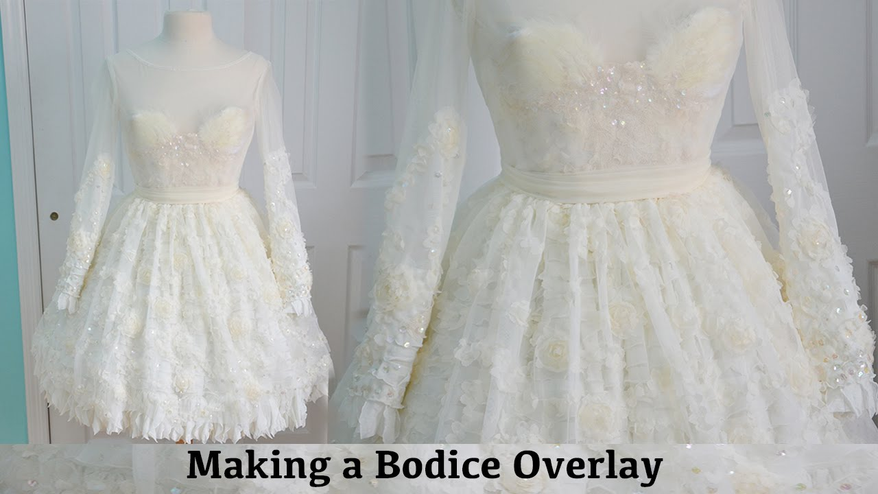 Making A Bodice Overlay: The Fluffy Feathered Dress, Part