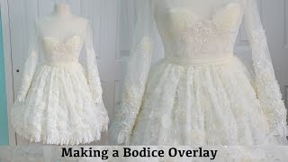 Making a Bodice Overlay: The Fluffy Feathered Dress, Part Three