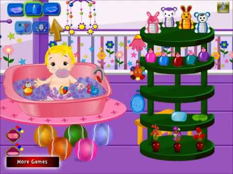 baby bath baby game for little girls best one youtube. Black Bedroom Furniture Sets. Home Design Ideas