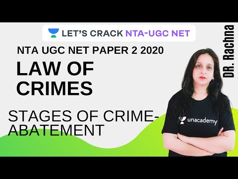 Stages of Crime-Abatement   Law of Crimes   NTA-UGC NET 2020 Paper-2   Rachna Choudhary