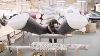 Гранд Марин - завод по производству лодок ПВХ (Хайпалон) со стеклопластиковыми днищами.