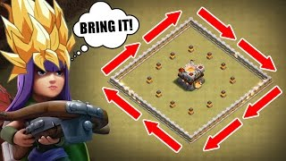 SUPER SAIYAN QUEEN WALK vs TOP PLAYER IN WAR! - Clash Of Clans