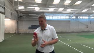 Cricket tips – Matthew Hoggard – Slower ball (off cutter) 2 of 7