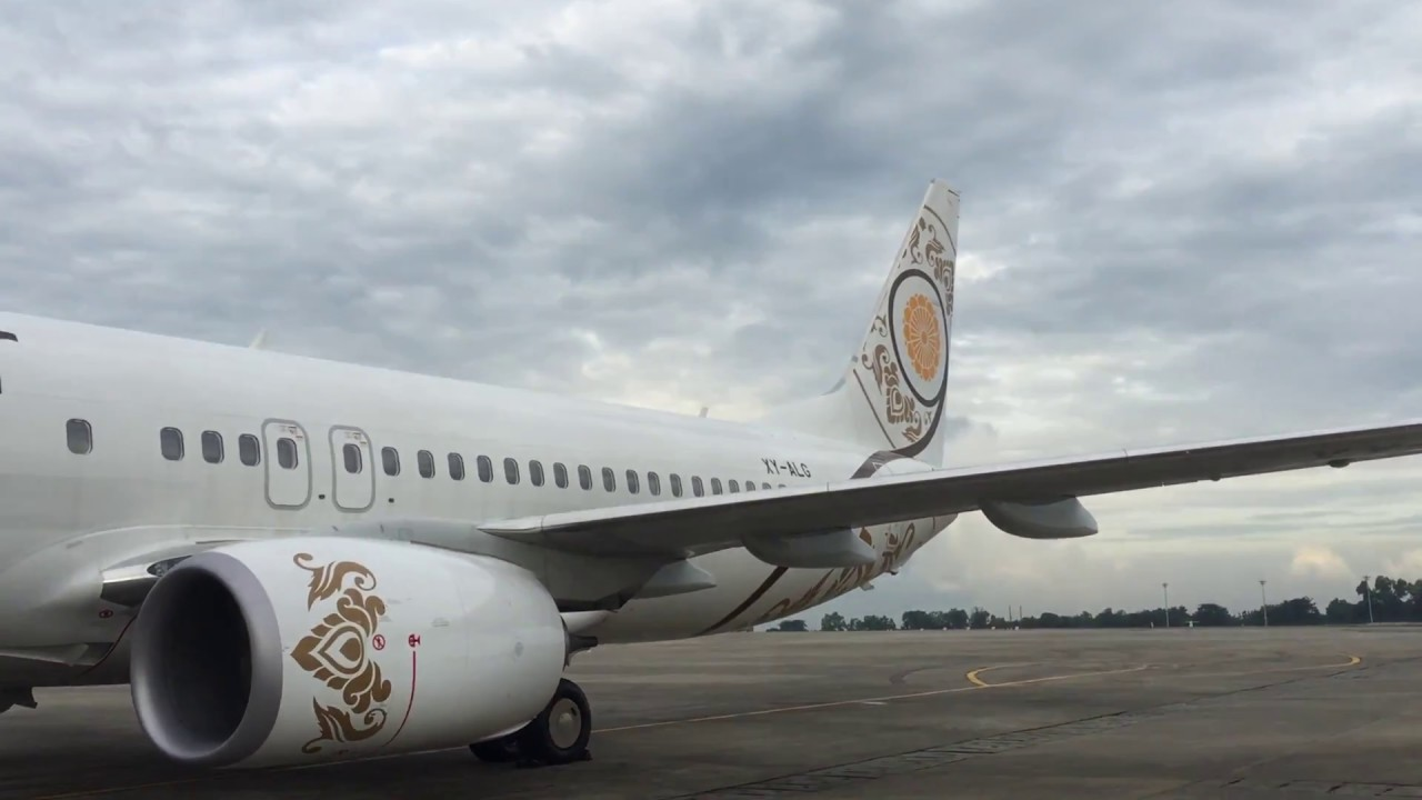 Myanmar National Airlines Flight Experience: UB 103 Yangon to ...