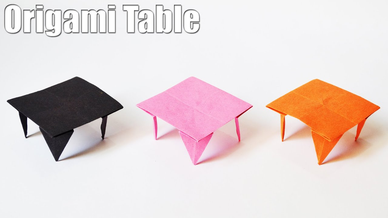 How To Make An Origami Table | Easy | Tutorial