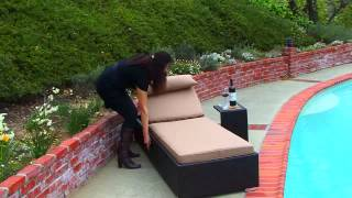 Niko Patio Lounger with Side Table by Sirio