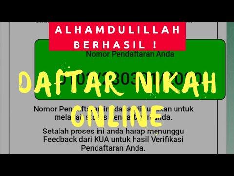 CARA DAFTAR NIKAH ONLINE MENGGUNAKAN SMARTPHONE || GO ...