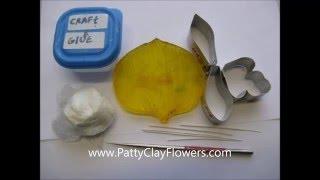 How to make Clay Flower Cymbidium Orchid tutorial / Polymer Clay / Sugar Craft / Cake Decoration