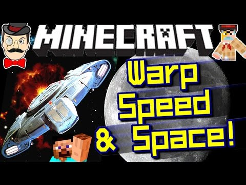 Minecraft WARP DRIVES! Space Ships, Space Travel & More!
