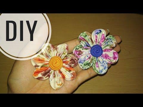 DIY || Cara membuat bros bunga dari kain perca katun / batik 2 || Easy Tutorial Fabric Flower