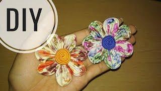 DIY    Cara membuat bros bunga dari kain perca katun / batik 2    Easy Tutorial Fabric Flower