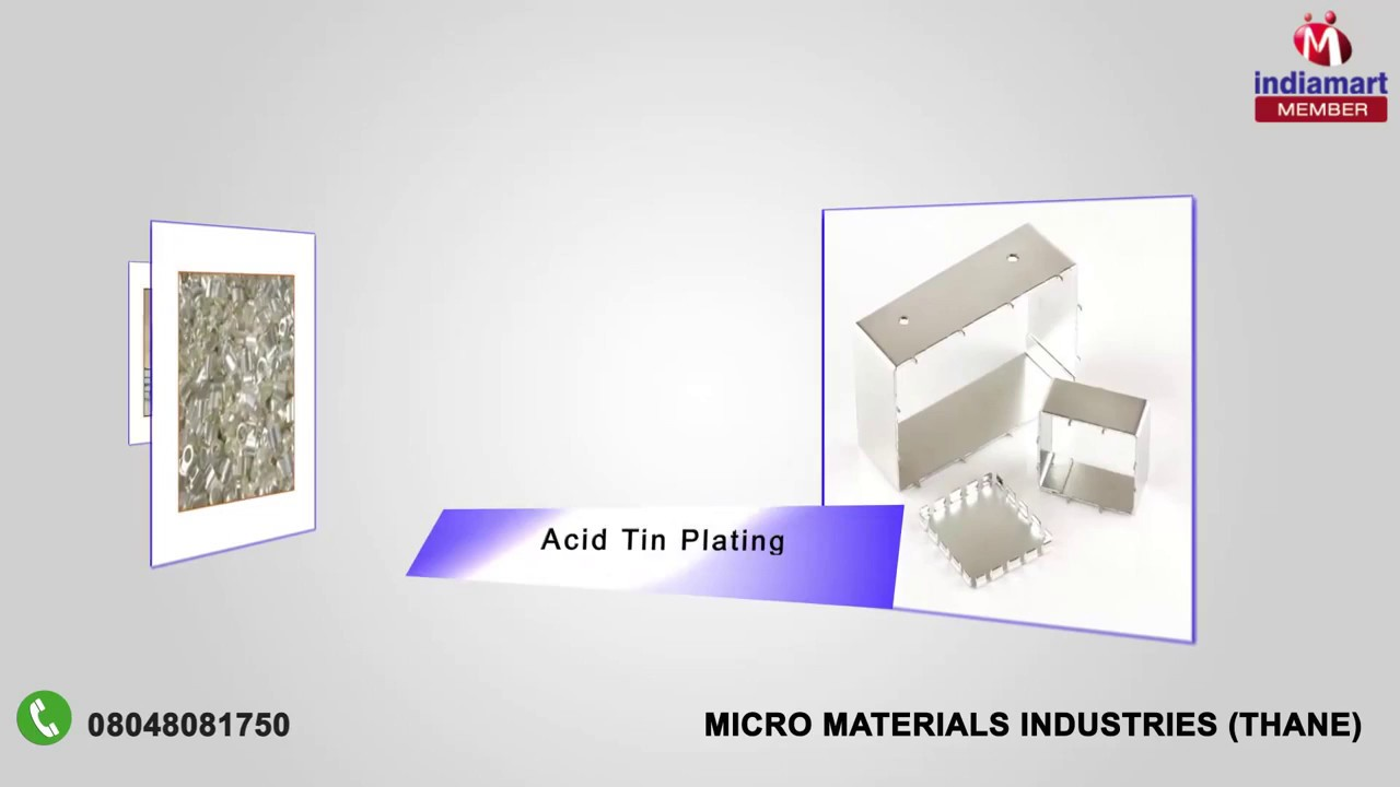 Tin and Copper Plating Services by Micro Materials Industries, Thane