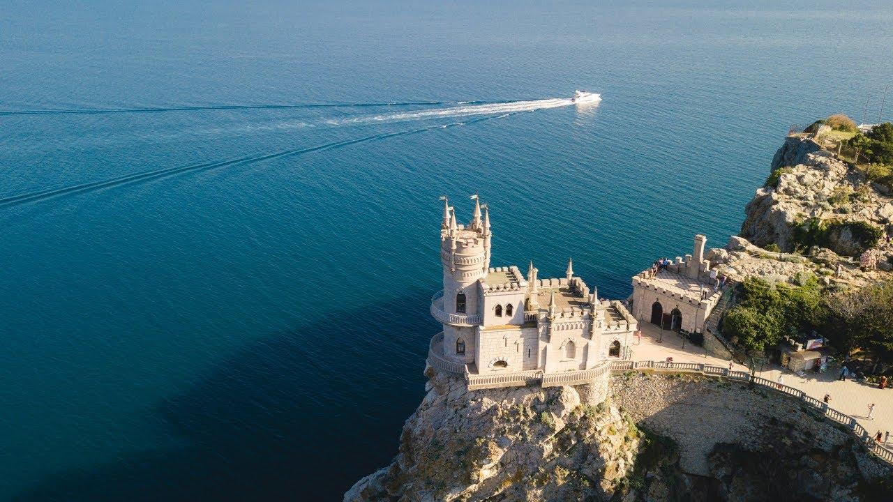 Крым 18 - Ласточкино гнездо, аэросъёмка - YouTube