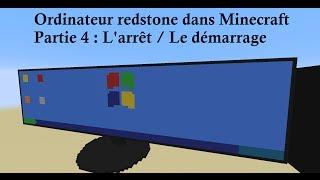 [2014 FR] Minecraft 1.8 - Un ordinateur redstone fonctionnel. Partie 4 : Démarrage / Arrêt