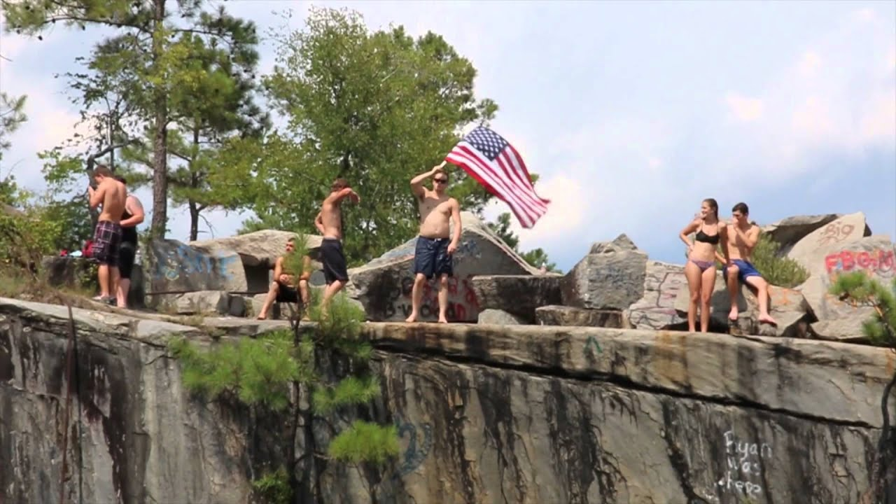 Anderson Rock Quarry 100 Foot Jump Youtube