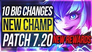 NEW RANK REWARDS & VICTORIOUS GRAVES! 10 BIG CHANGES & NEW OP CHAMPS Patch 7.20 - League of Legends