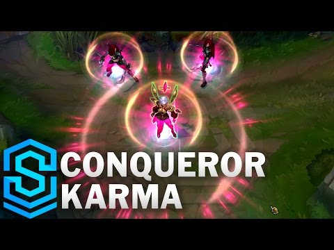 Conqueror Karma Skin Spotlight - League of Legends