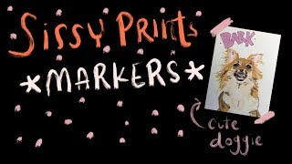 Drawing with Markers, cute dog edition *Sissy Prints*