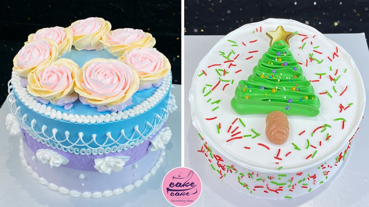 Easy Merry Christmas Cake Decorating Tutorials at Home   So Beautiful Cake Recipes for Beginners