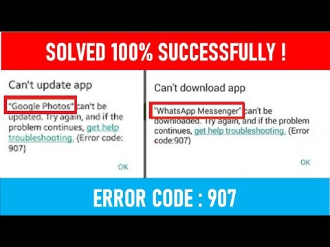 Solved Google Play Store Error Code 907 ! (100% Working & Successfully Method)