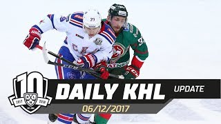 Daily KHL Update - December 6th, 2017 (English)