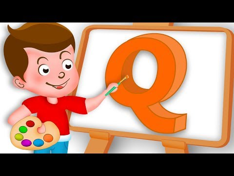 Drawing Alphabet Q Letter coloring painting for kids Kids Drawing TV