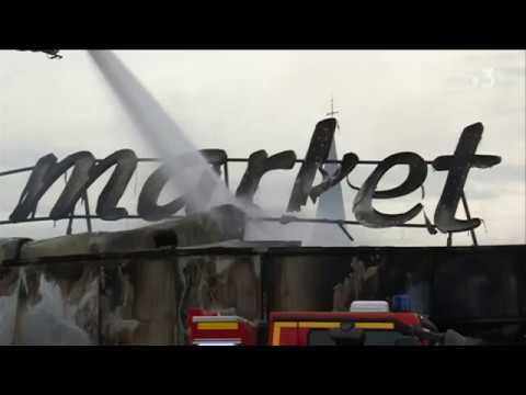 Incendie au supermarché Carrefour Market de Duclair