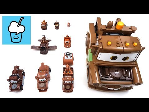 Disney Pixar Cars Mater Tow Truck Lightning Mcqueen with lego tomica トミカ
